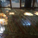 pressure clean deck
